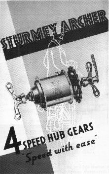Brochure Sturmey-Archer naaf, model AF