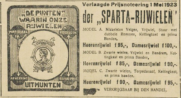 Sparta-advertentie